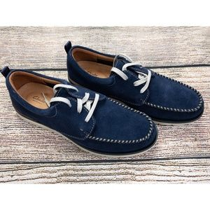 Clarks Men's Blue Suede Lace Up Shoes New in Box
